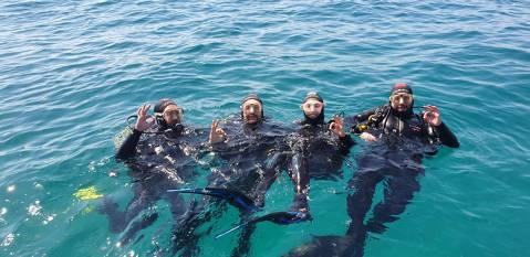 Bautizo Buceo e Inmersión en el mar desde embarcación
